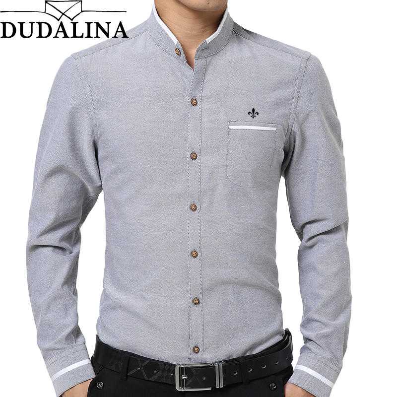 DUDALINA 2019 Oxford Shirt Men Long Sleeve Shirt Men Clothes Slim Fit Casual Men Social Shirt Imported China E52210