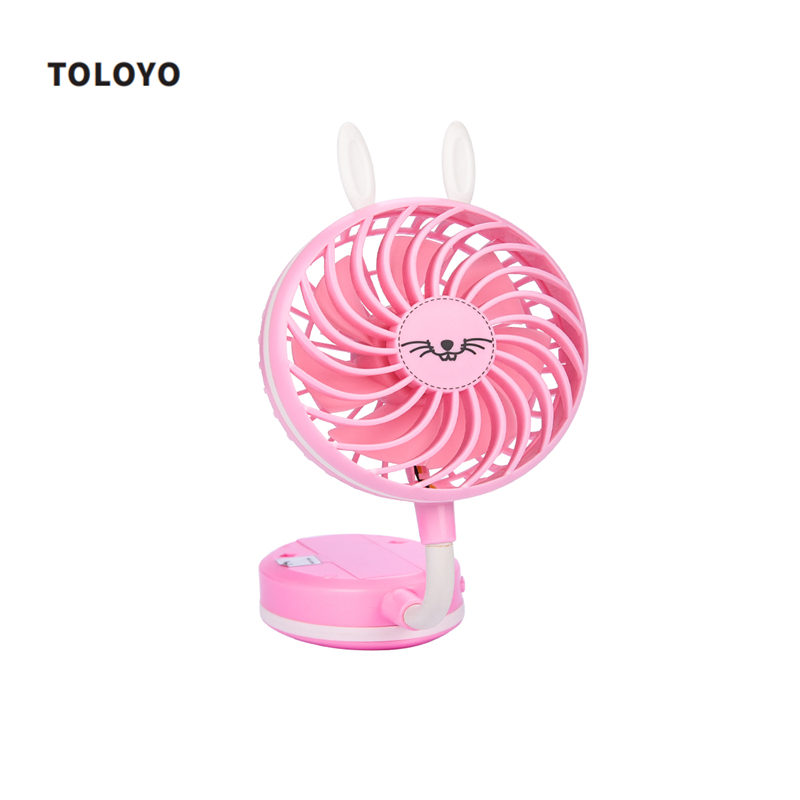 Personal USB Rechargeable Handhold and Desktop Mini Fan for Home Office Outdoor with 2 Files Wind Speed Foldable Cooling Fan 43