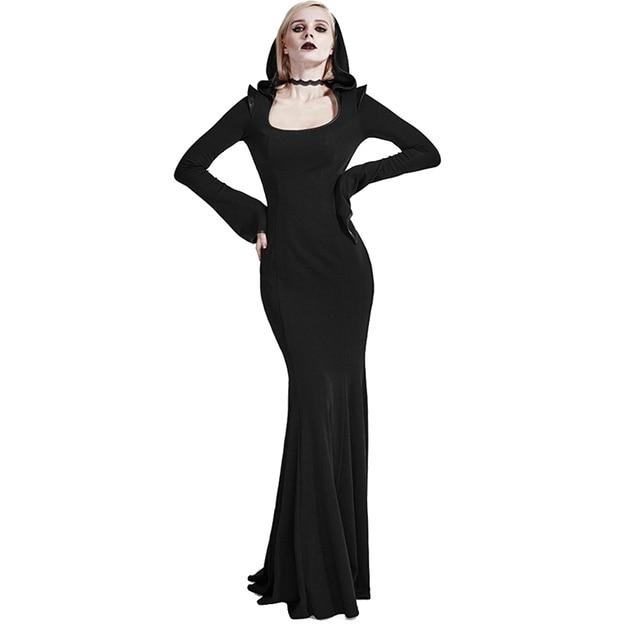 Gothic frauen bodycon kleider punk kleider haube sexy party dress ...