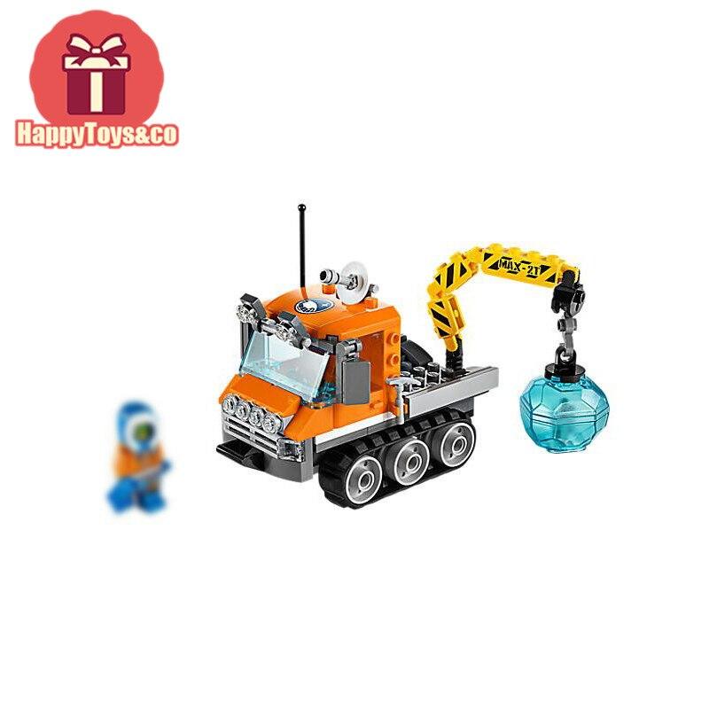 BELA City series 60033 119Pcs Arctic Ice Crawler toys For Children Gift 10438 Building Blocks Set Compatible Education Granules
