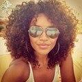 10A Бразильские Странный Вьющиеся Волосы Девственницы 3 Связки Бразильский Afro Kinky вьющиеся Волосы Mocha Компания Волос Мокрый И Волнистые Человеческие Мелирование Волос