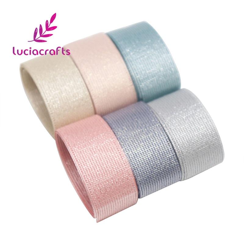 Lucia ремесла 25 мм сплошной цвет Grosgrain ленты DIY материалы ручной работы Свадьба/Вечерние/упаковка Decorartion 5y/6y-лот 040054258