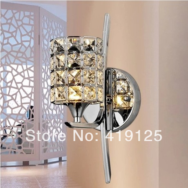 ФОТО Free shipping Brief k9 modern crystal wall lamp bed-lighting mirror light stair frha b2