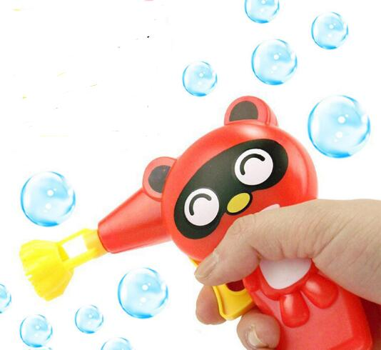 Lovely Cartoon Animal Soap Water Bubble Gun For Kid Outdoor Toys Children Blowing Bubbles Toy Manual Bubble Gun blower