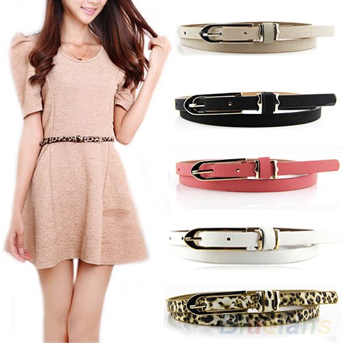 Stylish and Daring Skinny Dress Pink Belts for Lady Women S 1-1//8 wide 1 Pcs