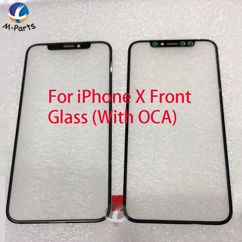 Front Screen Outer <font><b>Glass</b></font> Len with OCA for <font><b>iPhone</b></font> <font><b>X</b></font> XS Max XSM XR Touch Panel Replacement <font><b>Repair</b></font> Parts Grade AAA image