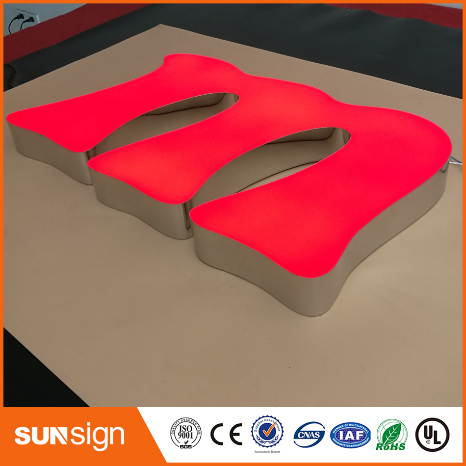 Water Proof 3D Led Sign Letters Outdoor Advertising Signs Custom Resin Sign Shop Logos
