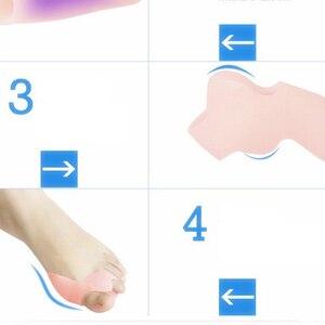 Image 4 - 2Pcs Siliconen Gel Teen Separator Middenvoet Bunion Spalk Bescherming Corrector Orthesen Hallux Valgus Pijn Foot Care Tool
