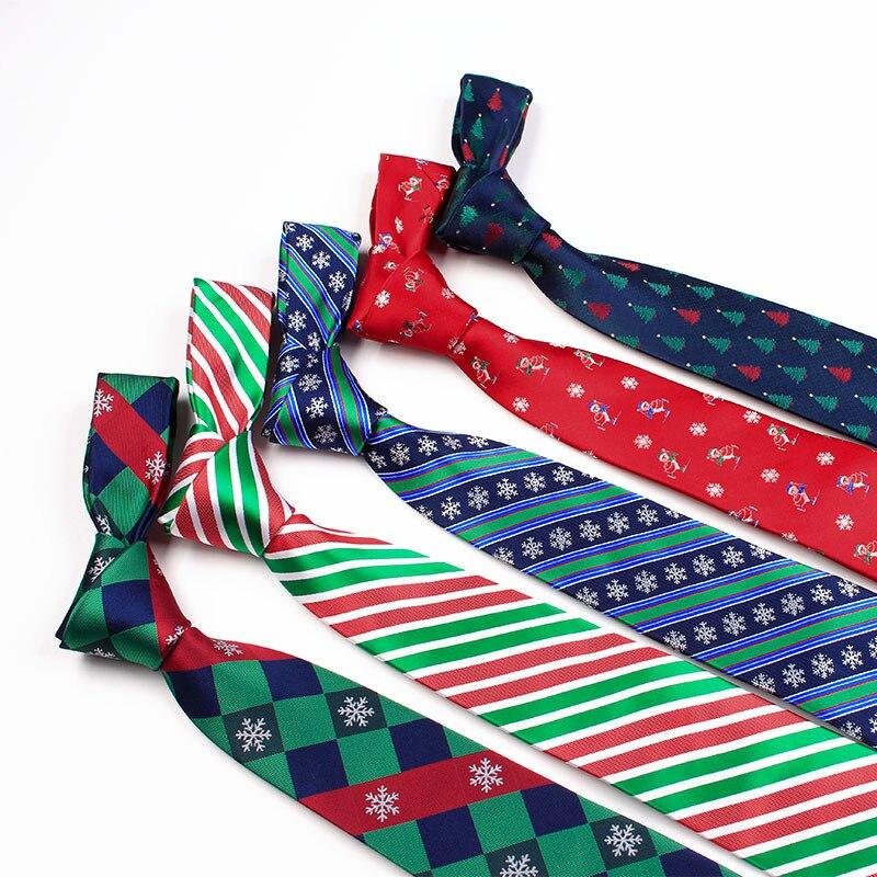 Weihnachten Krawatte Seide Jacquard 7,5 Cm Weihnachten Thema Krawatten Herren Krawatte Halstuch Krawatte Novel (In) Design;