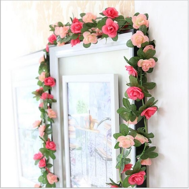 decoration mariage flores artificiales flower vine living room decorative artificial flowers roses small plastic decoration flor - Aliexpress Decoration Mariage