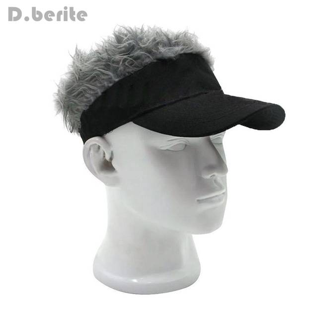 57a0a823777 placeholder Funny Men Adjustable Wig Cap Unisex Flair Hair Visor Snapback  Casquette Hat Casual Golf Caps Outdoor