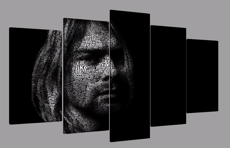 5 Teile/satz Gerahmte HD Gedruckt Kurt Cobain Pop Sänger Kunstdruck ...