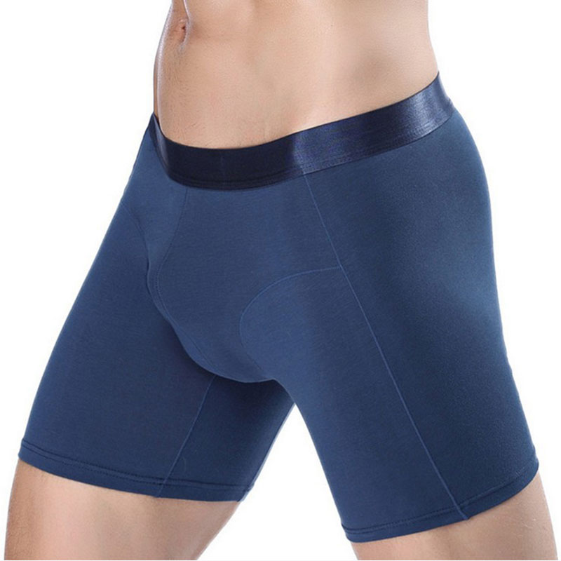 Boxers Dutiful Underwear Men Boxer Shorts Mens Kilot Solid Modal Cotton Long Leg Flexible Spring Winter Sexy Male Mens Underpants Cueca Homme Men's Underwear