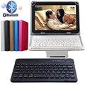 Bluetooth 3.0 Teclado Inalámbrico Cubierta de la Caja de Cuero de alta Calidad Para samsung galaxy tab e 9.6 t560 t561 tablet soporte del tirón cubierta