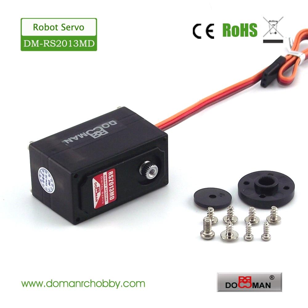 4pcs lot DM RS2013MD metal gear 20kg low profile 270 degree digital rc robot servo