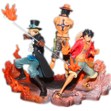 Anime One Piece 16cm 3pcs/set Luffy & Ace & Sabo 3 brother PVC Action Figure Toys Dolls RETAIL BOX zy091