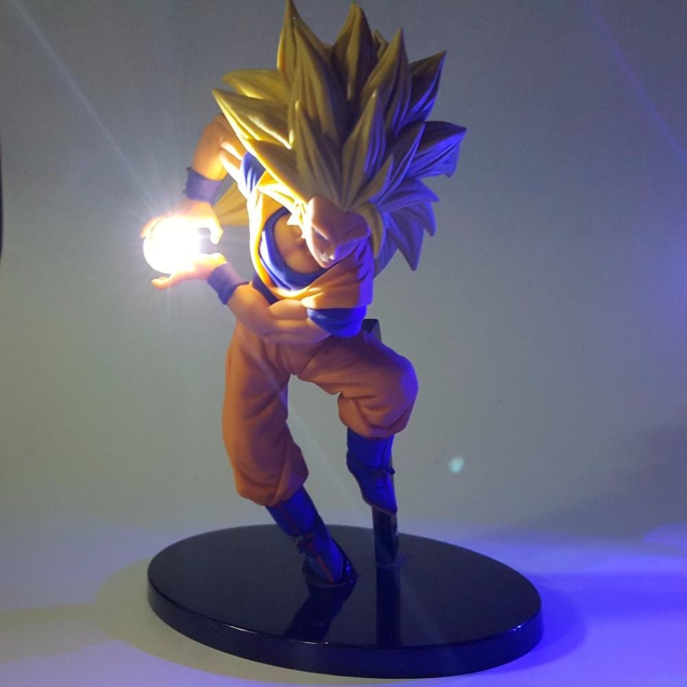 Super Saiyan Goku Kamehameha White Blue Led Collectible