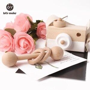 Image 5 - Vamos fazer 1pc brinquedos do bebê de madeira moda câmera pingente montessori brinquedos para crianças de madeira diy presentes de enfermagem bloco do bebê