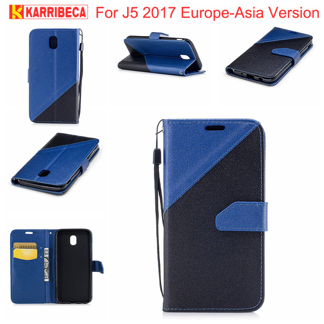 f362513a9a4 Flip PU Leather case for Samsung j5 2017 funda hoesje dual color wallet  cover for samsung galaxy j5 2017 J530F coque etui tok