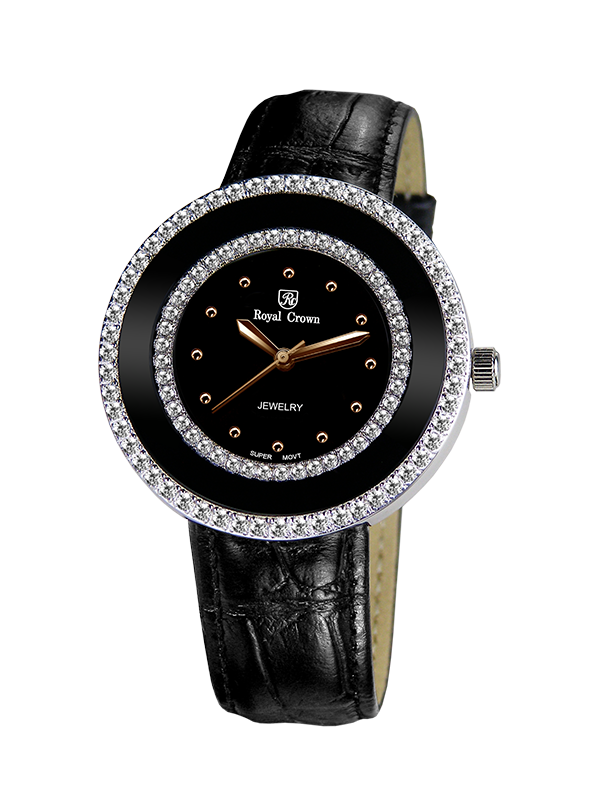 Royal Crown Jewelry Watch 3776 Italy brand Diamond Japan MIYOTA platinum кольцо royal diamond