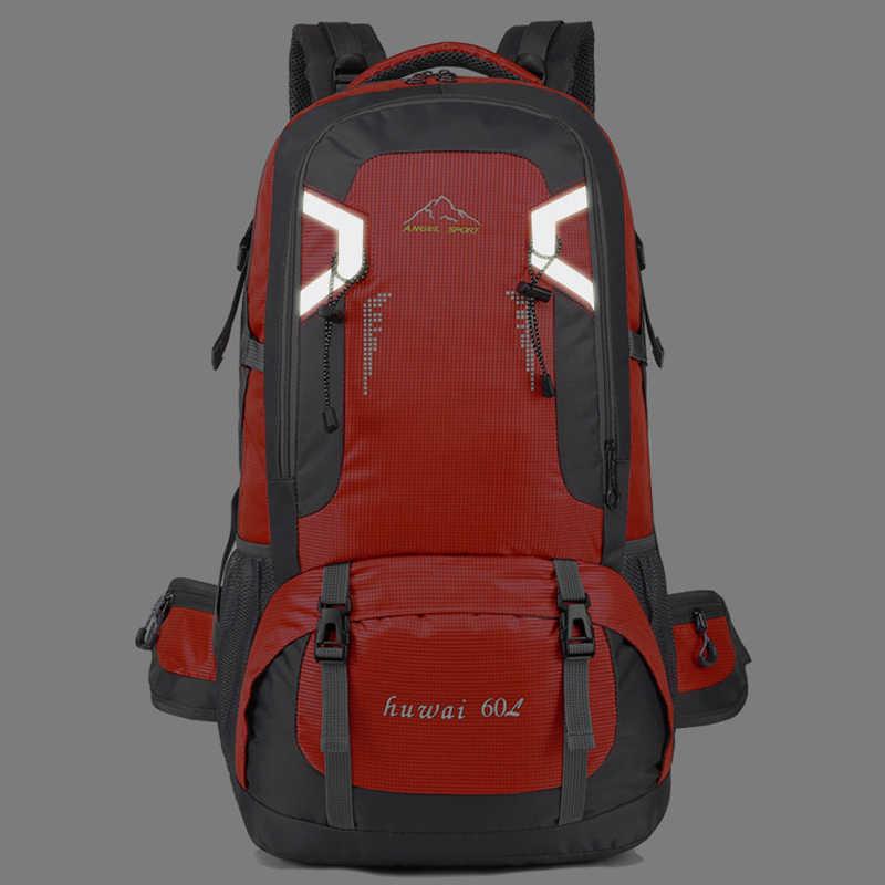 60l à prova dunisex água unissex men mochila de viagem pacote saco de esportes ao ar livre escalada montanhismo caminhadas acampamento mochila para o sexo masculino