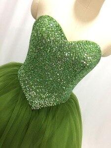 Image 2 - ILUSY suknia slubna חתונת שמלת 2019 מתוקה חרוזים באופן מלא V מותניים חתונה שמלת מפעל סיטונאי מחיר כלה שמלה