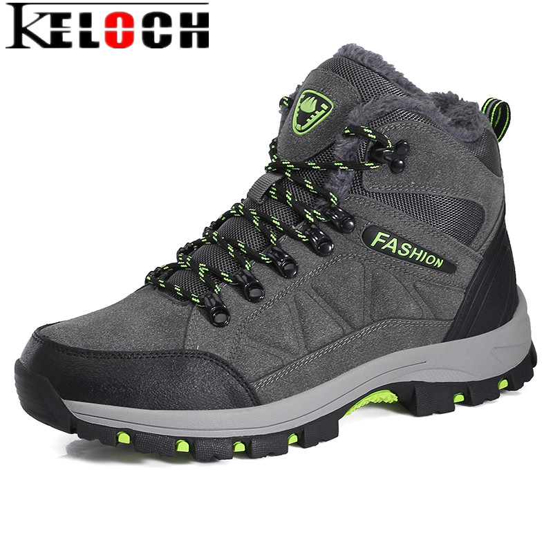 Keloch 2017 Winter Men Hiking Shoes Plush Warm Trekking Sneakers Outdoor Waterproof Climbing Camping Shoes Men Snow Boots 39-45 usb sd aux car mp3 music adapter cd changer for alfa romeo alfa gt 2004 2011 fits select oem radios
