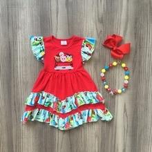 baby girls summer dress clothing girls red animals