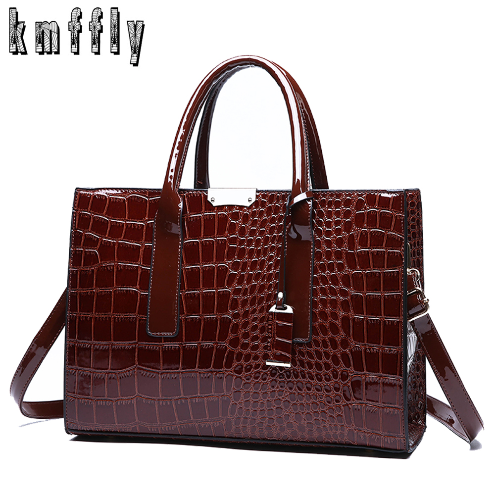 Fashion Crocodile Pattern Ladies Handbags 2018 Luxury Handbag Women Bags Designer Large Capacity Women Shoulder Messenger Bag