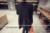 Elegante o pescoço collar sólido preto saia uma linha de maternidade dress coreano moda primavera roupas de gravidez para as mulheres grávidas
