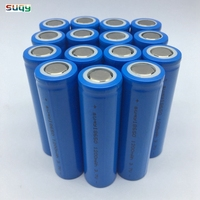 suqy 100% New Original Power Bank 18650 Accumulator Battery lithium ion 3.7v 1200mAh 18650 Protected Batterij wholesale
