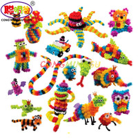400 Pcs Assemble 3D Puzzle DIY Puff Ball Squeezed Ball Creative Thorn Ball Clusters Handmade Educational