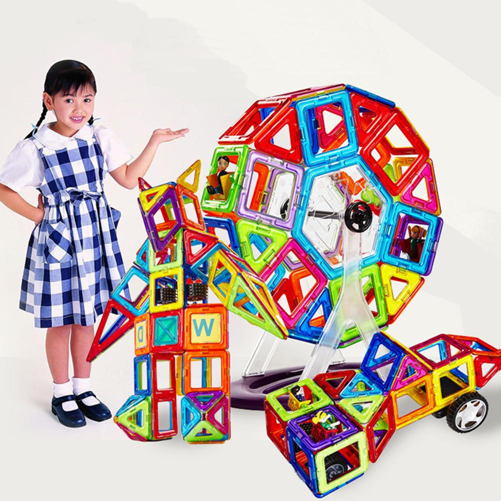 88 pieces Children Magnetic Building Blocks Education Toys Models Building Toys Building Toy Plastic Magnetic Blocks toy цена