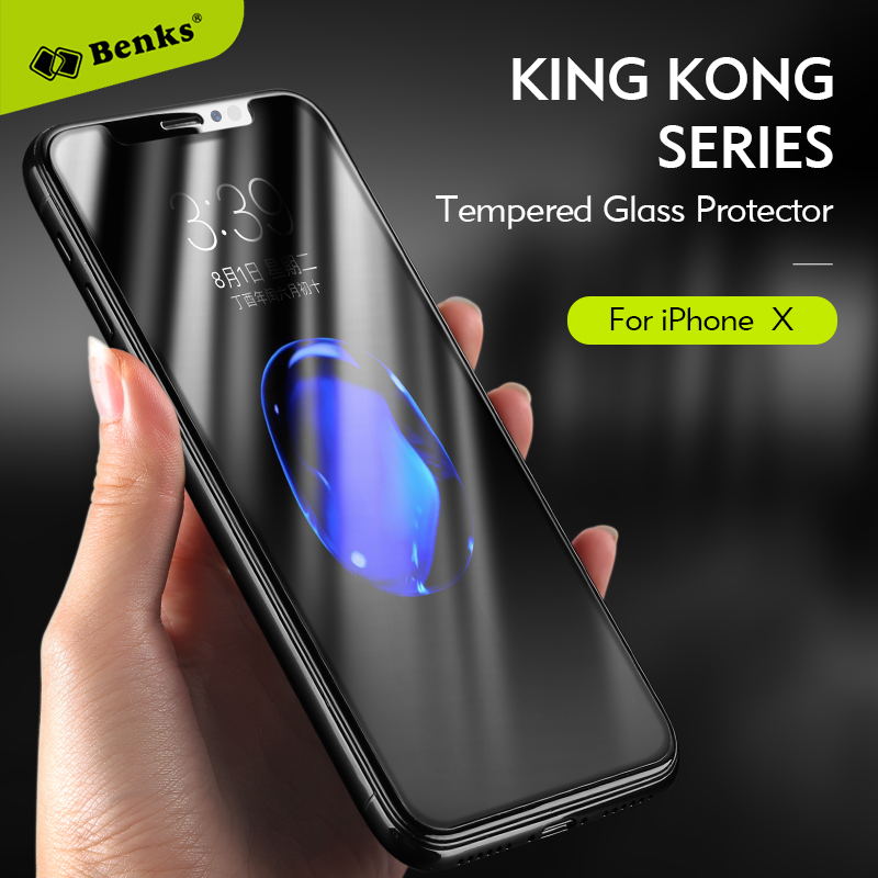 KINGKONG Series glass for Iphone X  XS tempered glass Benks soft edge full cover film for Iphone x Iphonex high quality glass