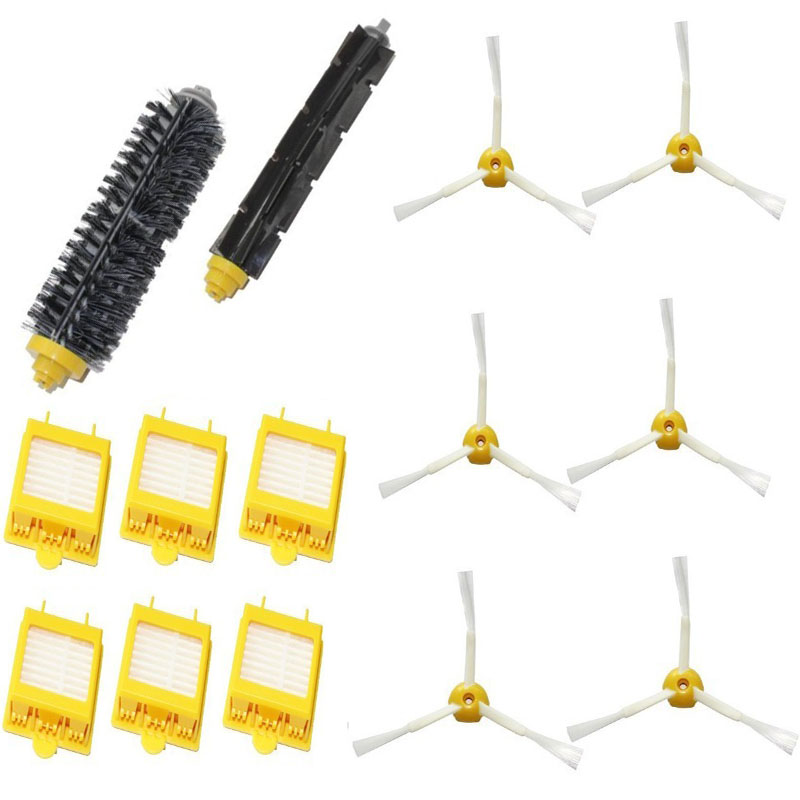 Hepa Filters Bristle Brush Flexible Beater Brush 3-Armed Side Brush Pack Set for iRobot Roomba 700 Series 760 770 780 790