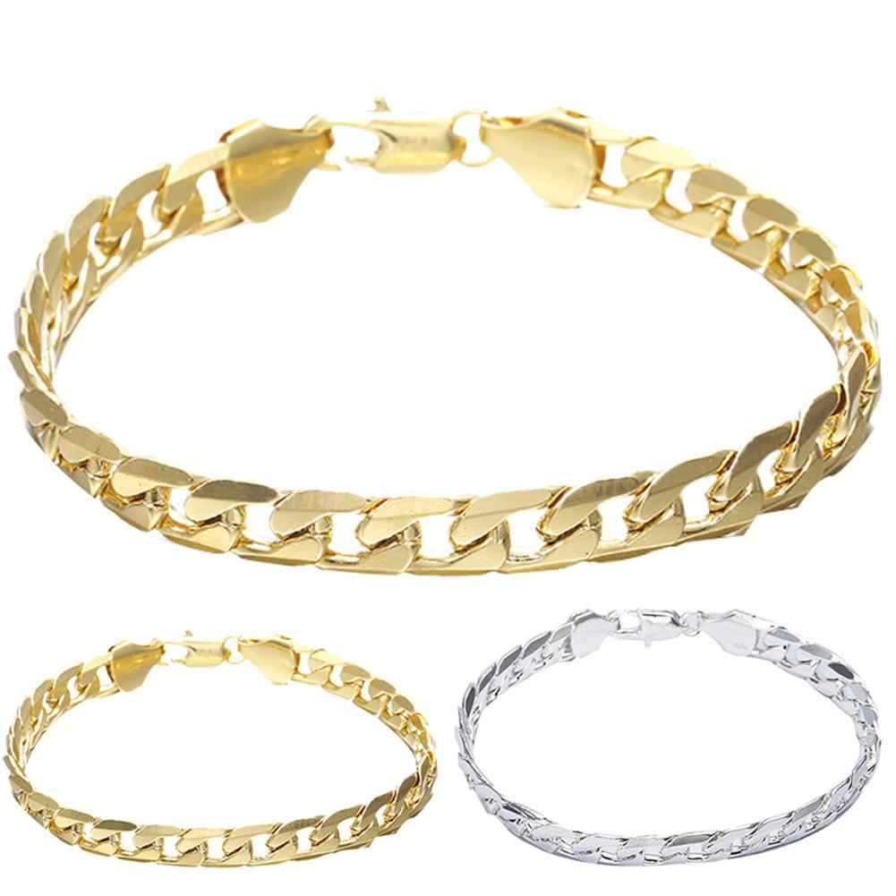Night Club Hip Hop Men Plated Alloy Cuban Linked Chain Bracelet Bangle Jewelry New