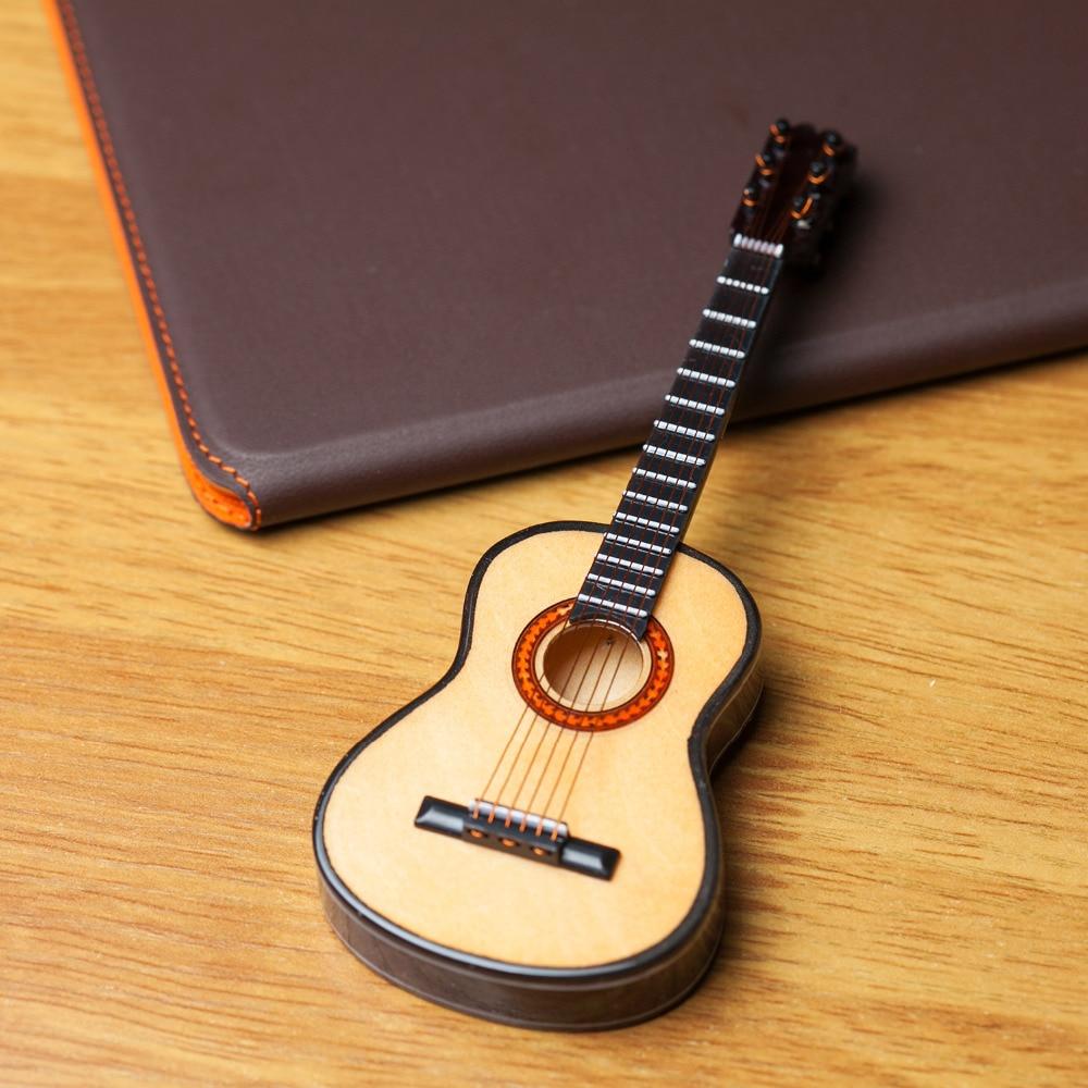 15cm Wooden Mini Guitar Maple mini musical instrument model Home ...