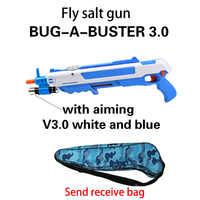 12 tipo caliente regalo de verano insecto sal volar arma, sal, pimienta, balas Blaster pistola arma del airsoft matar Mosquito flyToy al aire libre sal pistola