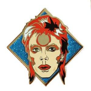 Image 1 - David Bowie inspiriert abzeichen nette glitter pin ziggy stardust Sane kunst brosche musik fans sammlung