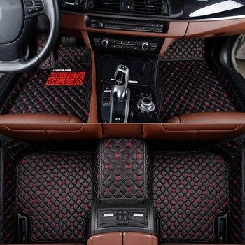 Flash mat leather car floor mats for Skoda all models octavia fabia superb kodiaq rapid yeti car styling auto accessories