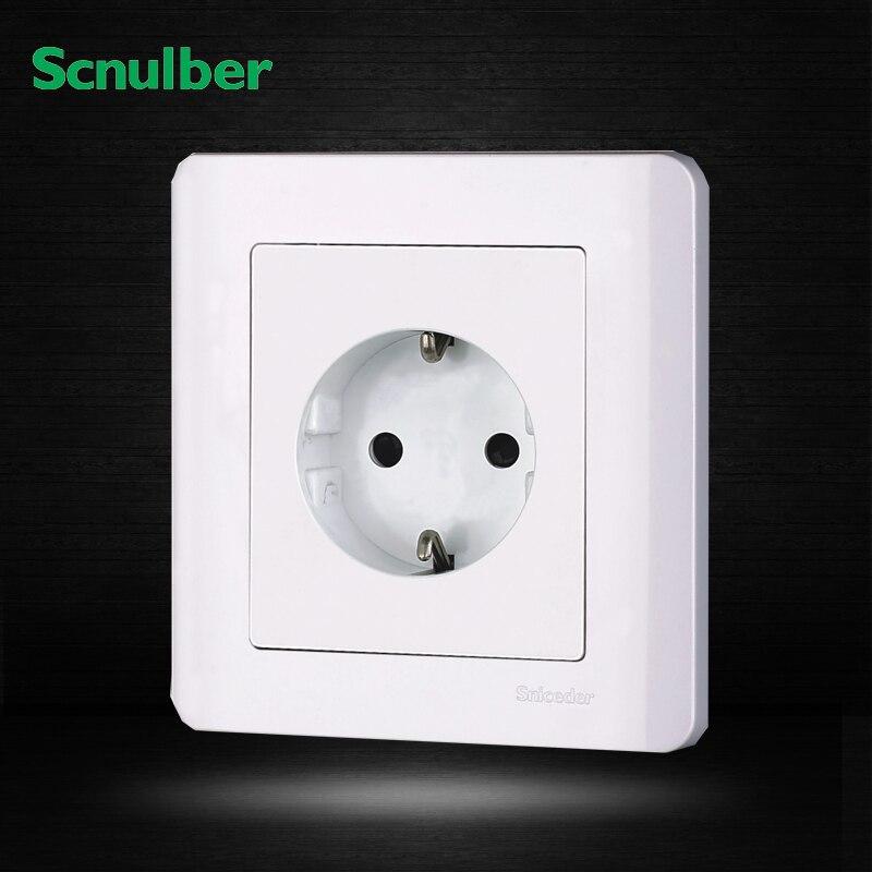white 220v 50hz 86mm 2p germany EU standard wall switch socket tp760 765 hz d7 0 1221a