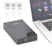 Blueendless Tool Free Hdd Sata 3 5 Case Protable 6TB Hard Disk Case USB 3 0