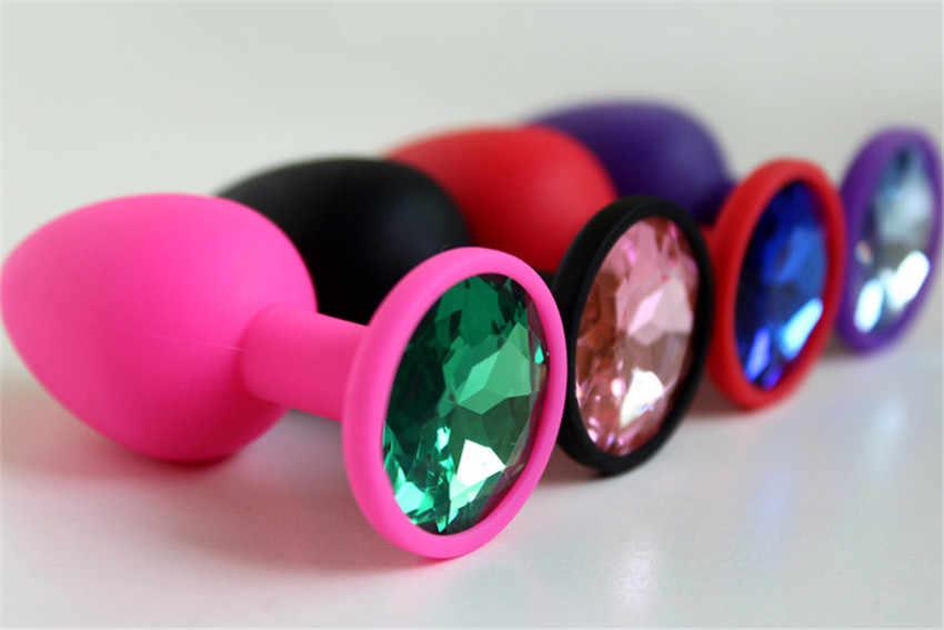 התחת תקע אנאלי צעצועים אנאליים סיליקון יהלומים צבעוני חלק מגע להכניס תקע פקק סקס צעצועי מוצרי סקס נשים צעצוע ST267