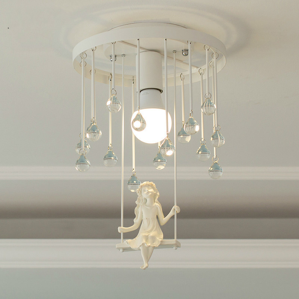 Nordic bedroom ceiling lamp simple modern creative child room lamp princess led lamp LM5081426Nordic bedroom ceiling lamp simple modern creative child room lamp princess led lamp LM5081426