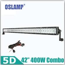 """Oslamp 400 watt 42 """"5D Fischaugen-objektiv CREE Chips LED Treibendes Licht Bar OffRoad Arbeitslicht (Spot + Flut) Combo Truck SUV Auto Led Bar"""