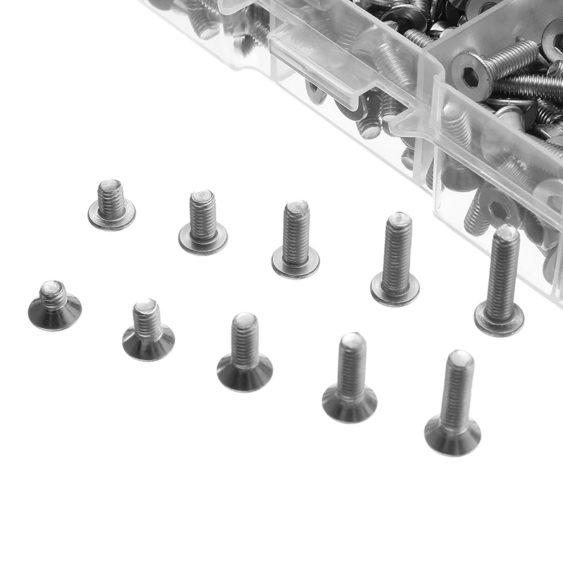 720pcs Stainless Steel M3 Button Flat Socket Head Screws Set Hex Socket Cap Screw Bolt New 720pcs techinic 2in1 motorized container