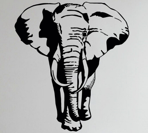 Elephant Wall Decal African Animal Wild Elephant Pvc Wall