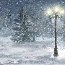 Winter Wonderland Neve Árvore Fotografia Fundos pano de Vinil de Alta qualidade Computador impresso pano de fundo de natal