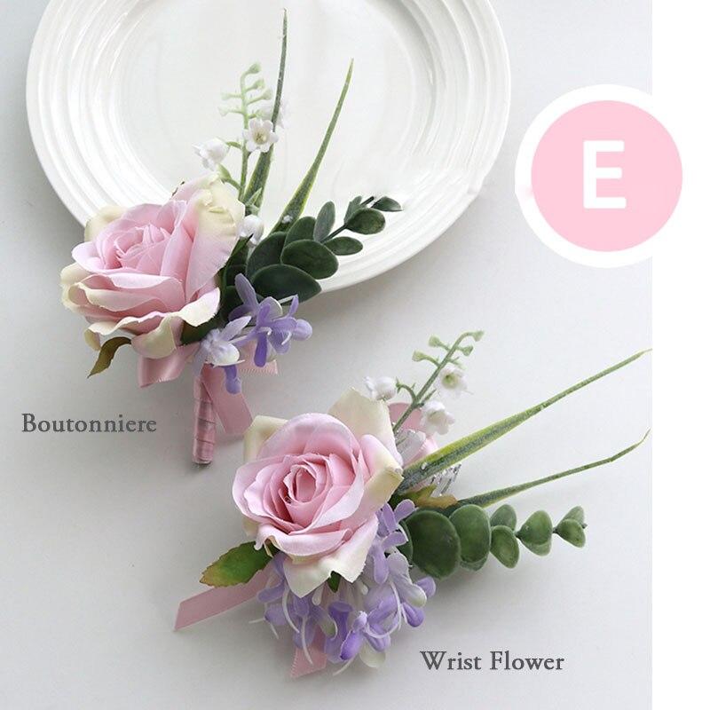 pink wrist corsage boutonniere wedding  (23)