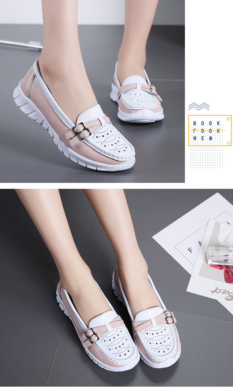 Spring Women Shoes Genuine Leather Handmade Flats Casual Shoes Woman Slip-on Loafers Ballet Flats Ladies Shoes Slipony (12)